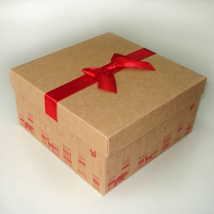 Как оформить подарок коробка в коробке 849