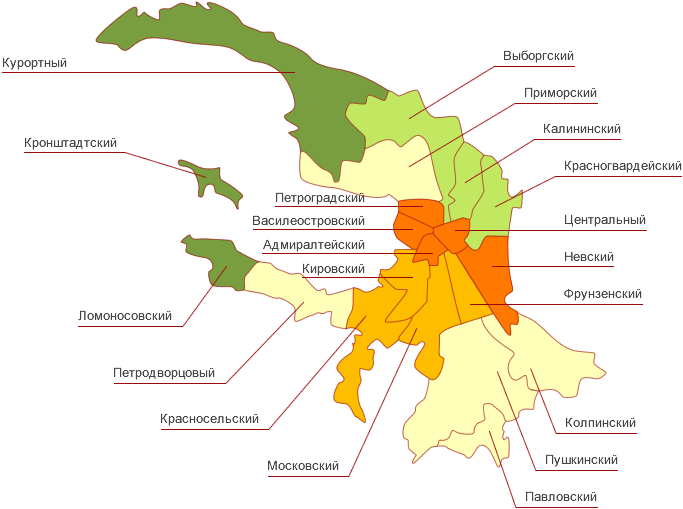 Схема московского района в спб